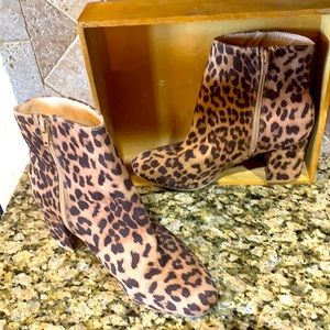Charlotte Russe Leopard booties size 8